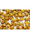 Superduo Beads Opaque Yellow-Picasso Silver 5x2,5mm - 10gr