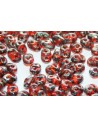 Superduo Beads Hyacinth-Picasso Silver 5x2,5mm - 10gr