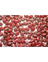 Superduo Beads Opaque Red-Picasso Silver 5x2,5mm - 10gr