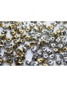 Superduo Beads Jet California Silver 5x2,5mm - 10gr