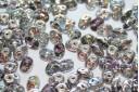 Perline Superduo Crystal Silver Rainbow 5x2,5mm - 10gr