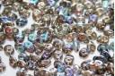 Perline Superduo Crystal Graphite Rainbow 5x2,5mm - 10gr