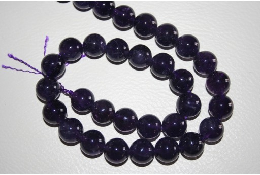 Amethyst Beads Sphere 10mm - 2pz
