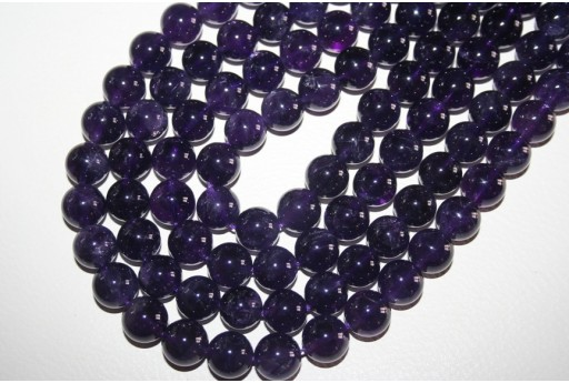 Amethyst Beads Sphere 12mm - 32pz