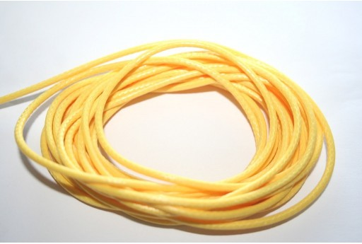 Yellow Waxed Polyester Cord 2mm - 5mt