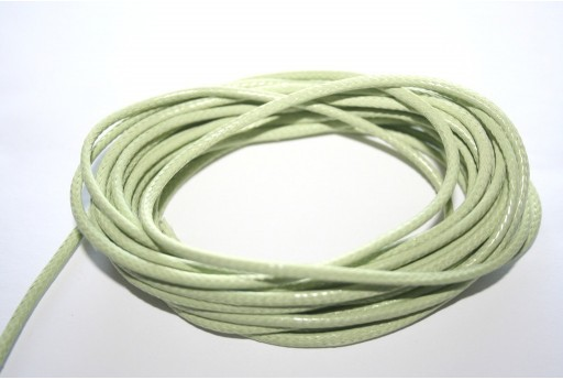Light Green Waxed Polyester Cord 2mm - 5mt