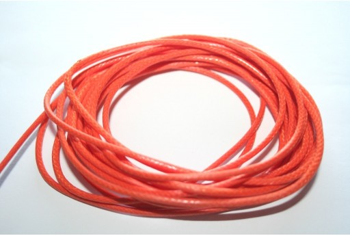 Dark Orange Waxed Polyester Cord 2mm - 5mt