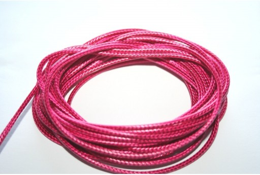 Fuchsia Waxed Polyester Cord 2mm - 5mt