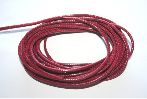Bordeaux Waxed Polyester Cord 2mm - 5mt
