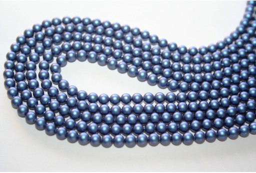 Swarovski Pearls 5810 Iridescent Dark Blue 4mm - 20pcs