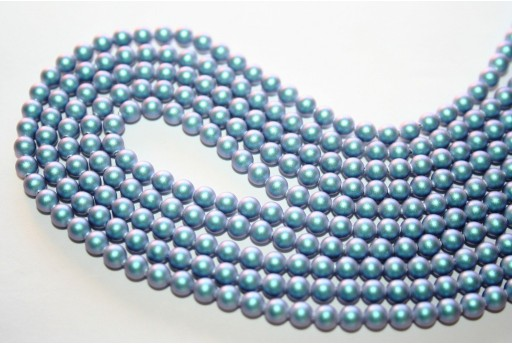 Swarovski Pearls 5810 Iridescent Light Blue 4mm - 20pcs