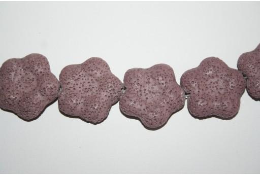 Pietre Lava Viola Fiore 28mm - 2pz