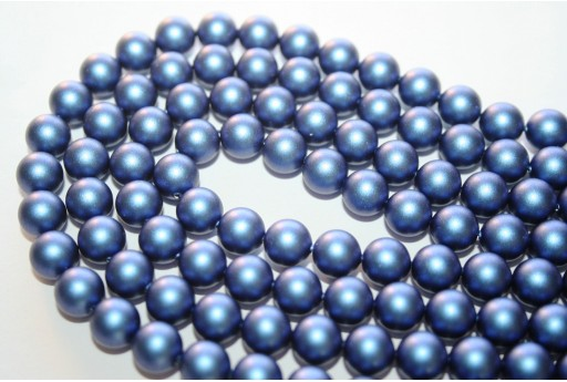 Perle Swarovski 5810 Iridescent Dark Blue 8mm - 8pz