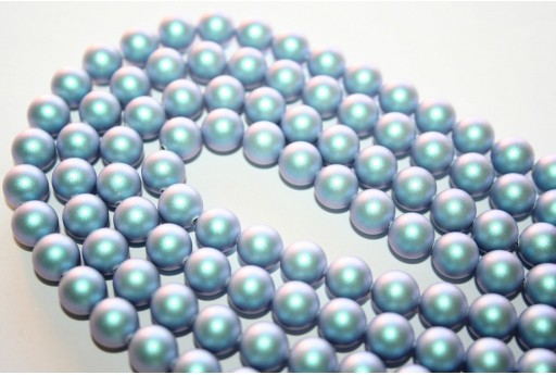 Swarovski Pearls 5810 Iridescent Light Blue 8mm - 8pcs