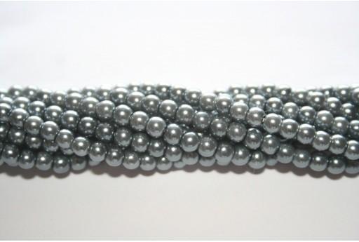 Perle Cerate Vetro Grigio Chiaro 4mm - 105pz
