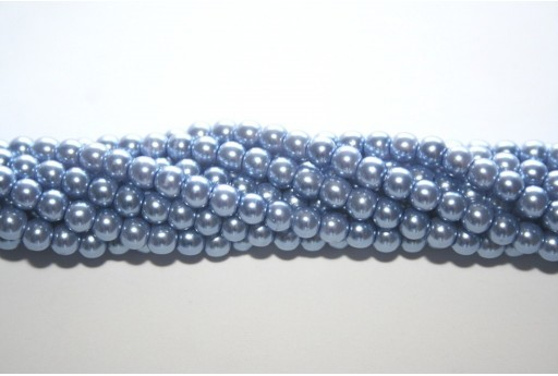 Glass Pearls Strand Light Blue 4mm - 105pcs