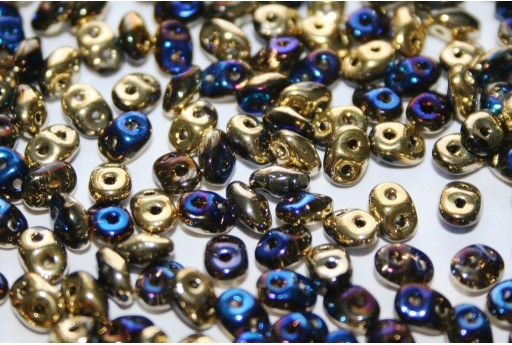 Superduo Beads California Blue 5x2,5mm - Pack 50gr