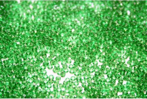 Miyuki Seed Beads Transparent Green 15/0 - 10gr