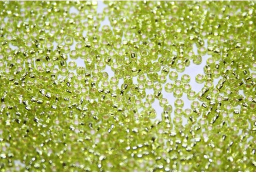 Miyuki Seed Beads Silver Lined Chartreuse 15/0 - 10gr