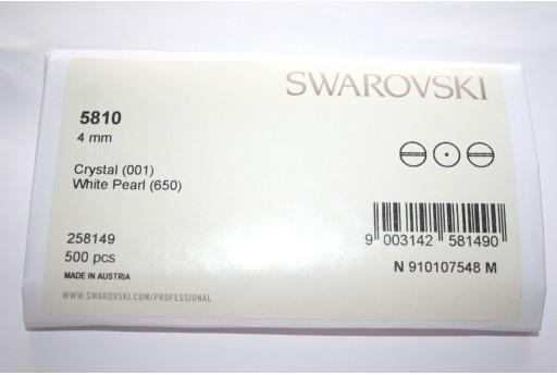 Swarovski Pearls 5810 White 4mm - Pack 500pcs