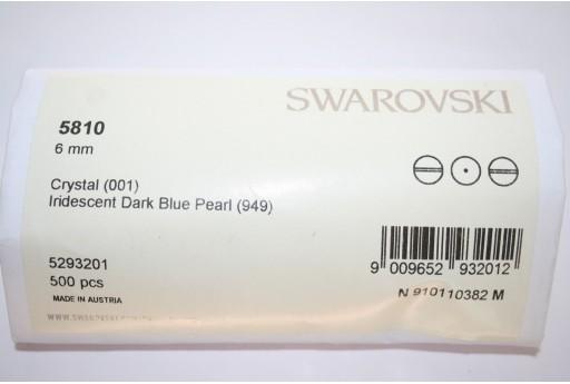 Perle Swarovski 5810 Confezione Ingrosso Iridescent Dark Blue 6mm - 500pz