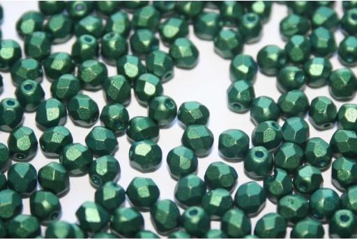 Perline Mezzi Cristalli Gold Shine Emerald 4mm - 60pz