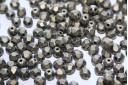 Perline Mezzi Cristalli Metallic Suede Gold 4mm - 60pz