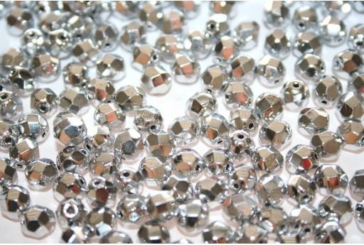 Perline Mezzi Cristalli Silver 6mm - 30pz