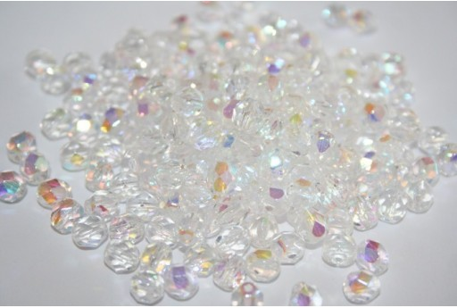 Fire Polished Beads Crystal AB 6mm - Pack 600pcs