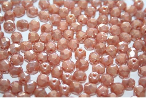 Perline Mezzi Cristalli Luster Pink Coral 6mm - 30pz