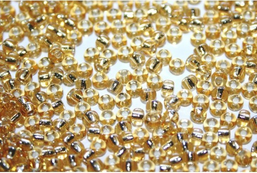 Rocailles Miyuki Seed Beads Silver Lined Gold 8/0 - 10gr