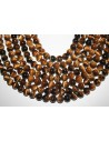 Tiger's Eye Round Bead Strand 38pcs 10mm OCDT3