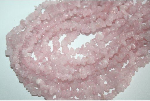 Filo Circa 100 Pietre Quarzo Rosa Chips 5x8mm QURO8