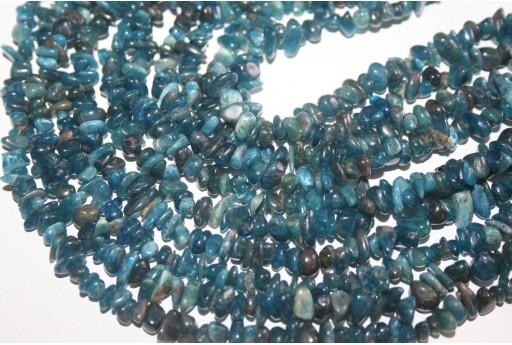 Apatite Beads Blue Chips 5x8mm - 220pz