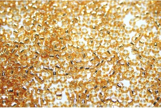 Miyuki Seed Beads Silver Lined Gold 11/0 - Pack 100gr