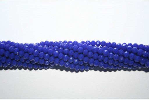 Chinese Crystal Beads Faceted Rondelle Night Blue 4x3mm - 150pz