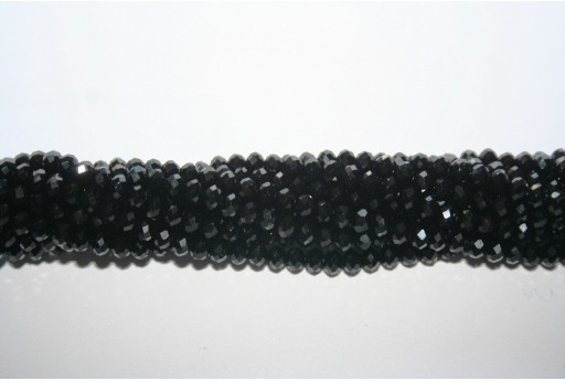 Chinese Crystal Beads Faceted Rondelle Black 3X4mm - 132pcs