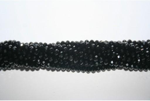 Cristallo Cinese Rondella Sfaccettata Nero 4x3mm - 150pz