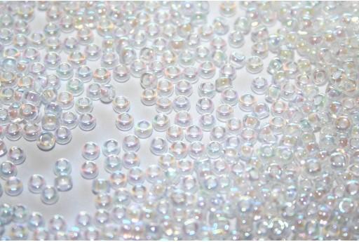 Perline Miyuki White Lined Crystal AB 11/0 - 10gr