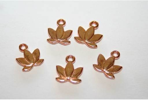 Lotus Pendant Rose Gold 10x11mm - 3pcs
