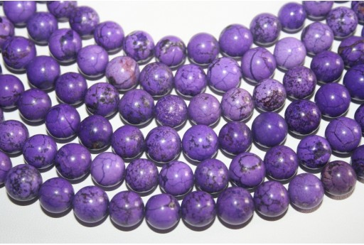 Magnesite Beads Violet Sphere 10mm - 38pz