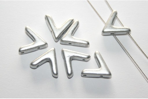 Ava® Beads Aluminum Silver 10x4mm - Pack 100pcs