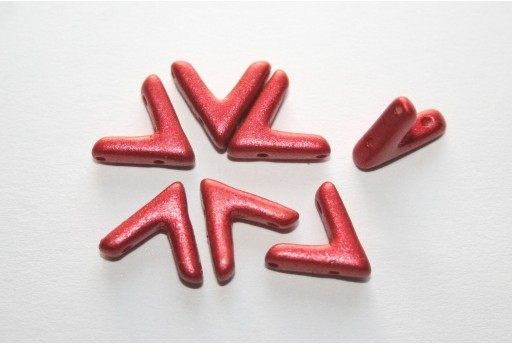 Ava® Beads Lava Red 10x4mm - Pack 100pcs