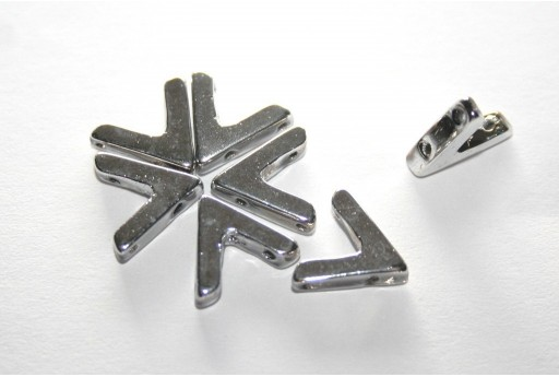 Ava® Beads Silver 10x4mm - Pack 100pcs