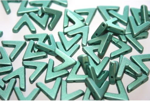 Ava® Beads Metallic Emerald 10x4mm - Pack 100pcs