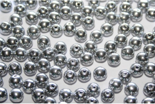 Perline RounDuo® Silver 5mm - 30pz