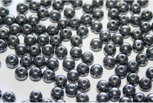 Perline RounDuo® Jet Hematite 5mm - 30pz