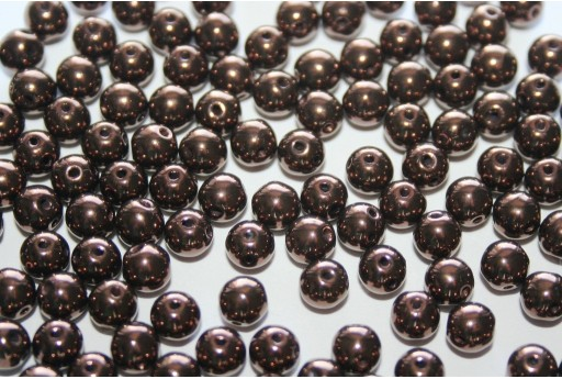 Perline RounDuo® Jet Bronze 5mm - 30pz