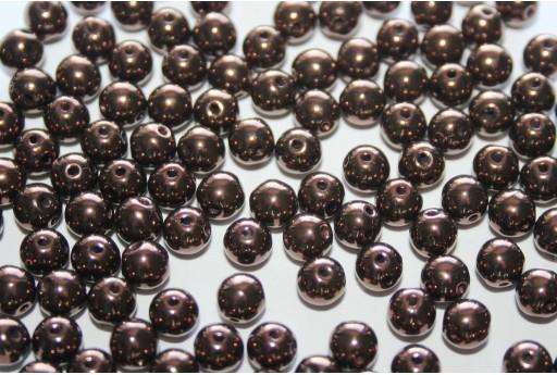 Perline RounDuo® Jet Bronze 5mm - 600pz