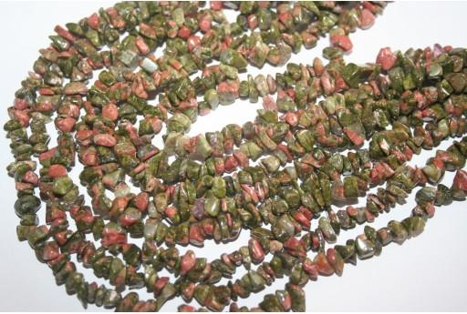 Filo 100 Pietre Unakite Chips 5x8mm UN1